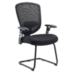 FF LEXI ARISTA MESH VISITORS CHAIR BLACK