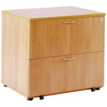 FF Arista Beech Desk High Side Filer
