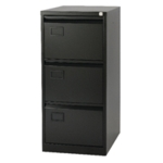 Jemini 3 Drawer Filing Cabinet Blk