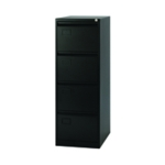 Jemini 4 Drawer Filing Cabinet Black