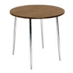 FF Arista Wnt Chrome Round Bistro Table