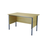 FF Serrion Oak 1200mm 4 Legged Desk