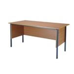 FF Serrion Beech 1500mm 4 Legged Desk