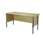 FF Serrion Oak 1500mm 4 Legged Desk
