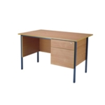 FF Serrion Bch 1200mm 4 Leg Desk 2D Ped