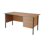 FF Serrion Bch 1500mm 4 Leg Desk 2D Ped
