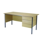 FF Serrion Oak 1500mm 4 Leg Desk 3D Ped