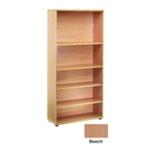 FF Jemini 1800mm Bookcase 4Shelf Beech