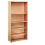 FF Jemini 1800mm Bookcase 4Shelf Oak