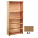 FF Jemini 2000mm Bookcase 4Shelf Oak