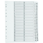 Q-Connect 1-50 Index Clear Tab White A4