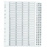 Q-Connect 1-75 Index Clear Tab White A4
