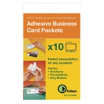 Pelltech Slf-Adh B/ness Card Pocket P100