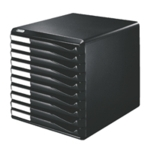 Leitz Black/Black 10 Drawer Form Set