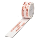 Printed Contents Checked White/Red Tape