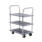 Barton 3 Shelf Trolley/Chrome Hndl PST3