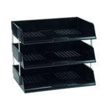 Avery Blk Wide Entry Letter Tray W44BLK