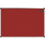 Nobo Felt Noticeboard 1200x900mm Red