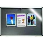 Nobo Lockable Visual Board Grey 1265x965