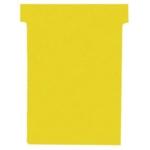 Nobo T-Card Size 2 Yellow Pk100