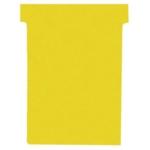 Nobo T-Card Size 3 Yellow Pk100