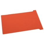 Nobo Red T-Card Size 4 Pk100