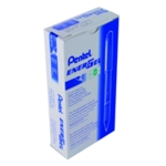 Pentel EnerGel Plus Pen Med Blue Pk12