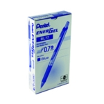 Pentel EnerGel Xm Retrct Pen Blue Pk12