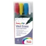 Pentel Liquid Chalk Marker Med Asstd Pk4