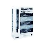 Pentel N50 Bullet Marker Black Pk12