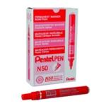 Pentel N50 Bullet Marker Red Pk12