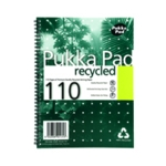 Pukka Recycled Wire Notebook A4 Pk3