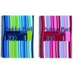 Pukka Stripes Jotta Notebook A4 Blu Pk3