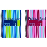 Pukka Stripes Jotta Notebook A5 Blu Pk3