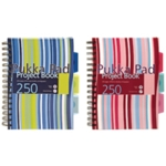 Pukka Stripes Project Book A5 Blu Pk Pk3