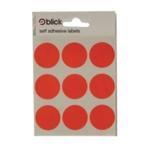 Blick Coloured Labels 29mm Red Pk720