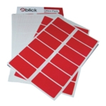 Blick Colour Label 25x50mm Red Pk320