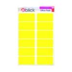 Blick Colour Label 25x50mm Yellow Pk320