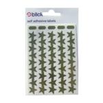 Blick Labels Metal Star 14mm Gold Pk2700