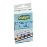 Stephens Chalk Col Stick Asrtd Pk144