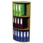 Rotadex Corner Unit 3-Tier Lt.Oak CU18