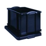 Really Useful Black 84L Rcyc Storage Box