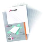 Rexel Cut Back Folder A4 Clear Pk25