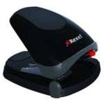 Rexel Easy Touch Blk/Gy Hole Punch 30Sht