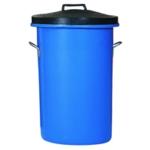 Blue 85 Ltr H Duty Coloured Dustbin