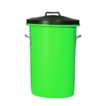 Green Heavyweight Cylindrical Store Bin