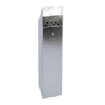 Hooded Top Tower Bin Silver 317468