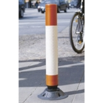 VFM Red/Wht Hi Vis 1000mm Flexible Post