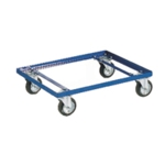 Container Dolly Blue 100mm Rubber Castor