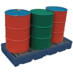 Pallet Sump 2 Drum Cap Blue 321622